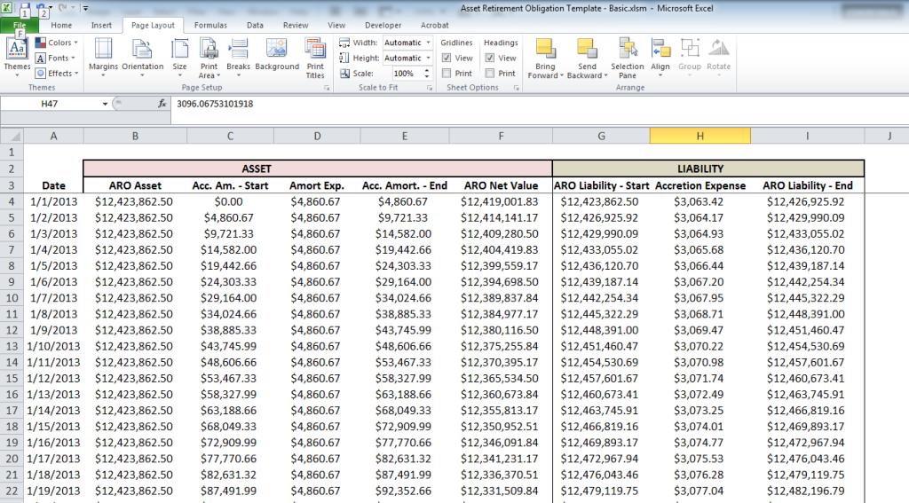 Prepaid expense worksheet template